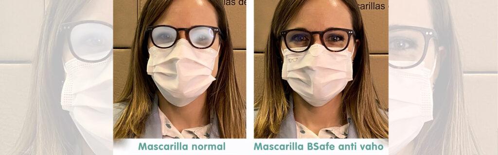 MASCARILLA BSAFE ANTIVAHO PARA USO CON GAFAS
