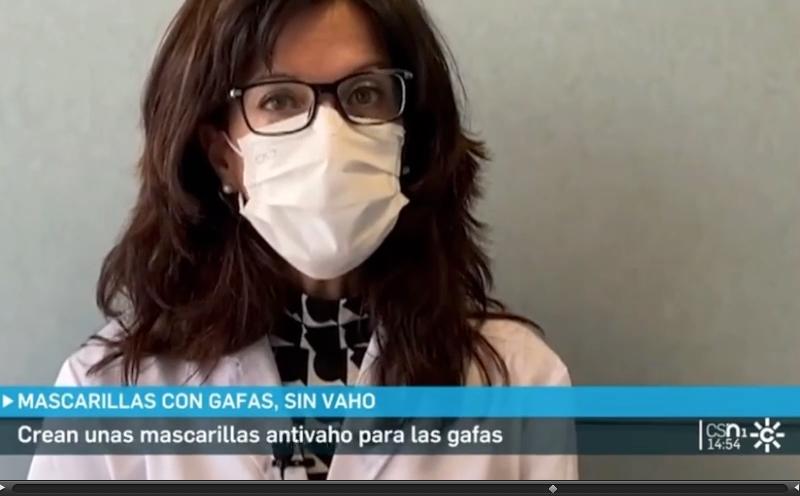 MASCARILLA BSAFE ANTI VAHO EN EL INFORMATIVO DE CANAL SUR