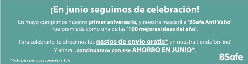 EN JUNIO CONTINUAMOS CON LOS GASTOS DE ENVÍO GRATIS EN NUESTRA TIENDA ONLINE PARA PEDIDOS SUPERIORES A 15€